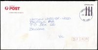 Lot 2164:Amphitheatre: - WWW #70 30mm 'AMPHITHEATRE/20SEP1999/VIC 3468' on APO cover.  PO 22/6/1859; LPO 16/10/1993.