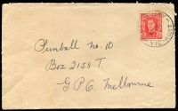 Lot 2460:Apollo Bay: - WWW #30A 'APOLLO BAY/2OC47/VIC-AUST' (arcs 3,3), on 2½d red KGVI on cover.