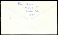 Lot 2465 [2 of 2]:Apollo Bay: - 'RELIEF/20MR81/82/VIC-AUST' on 22c on cover. [Used 19/3/81 to 23/3/81]