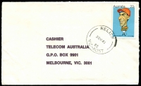 Lot 2465 [1 of 2]:Apollo Bay: - 'RELIEF/20MR81/82/VIC-AUST' on 22c on cover. [Used 19/3/81 to 23/3/81]