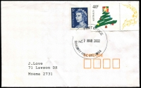Lot 13821:Bakery Hill: - WWW #40 36½mm 'POST OFFICE/28JAN2000/BAKERY HILL VIC 3554' on 45c on cover.  Replaced Ballarat East PO 31/8/1992.