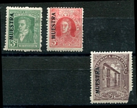 Lot 16599 [2 of 2]:1926 Postal Centenary SG #547s-50s 3c to 25c complete, 25c defective. Ex UPU distribution. (4)