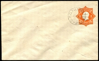 Lot 690:1920-21 2d Orange KGV Star No 'POSTAGE' BW #EP21w with GPO Melbourne 2 CTO cancel of 19NO20, Cat $150. 394 produced for UPU.