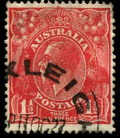 Lot 548:1½d Red Die II - BW #91(4)g Broken top to crown [4L53], Cat $25. [This is prior to the Type B re-entry.]