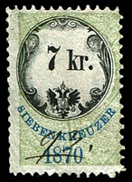 Lot 3506 [2 of 3]:Stamp Duty: 1870 series with value in words and numbers, 5kr, 7kr & 36kr (3)