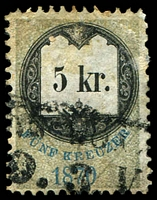 Lot 19913 [1 of 3]:Stamp Duty: 1870 series with value in words and numbers, 5kr, 7kr & 36kr (3)