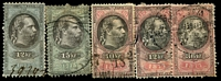 Lot 3112:Stamp Duty: 1875-78 series with 1875 12kr & 15kr and 1877 10kr, 12kr & 36kr (5)