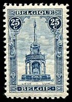 Lot 3146:1919 Perron SG #236 25c deep blue 1st printing (18½x28mm), Cat £600. Ex UPU distribution.