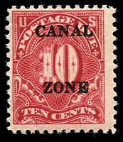 Lot 3596 [3 of 3]:1925 Pointed A Sc #J18-20 1c (straight edge), 2c & 10c set, Cat $173. Ex UPU distribution. (3)