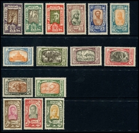 Lot 3434:1919 Pictorials SG #181-95 simplified set, Cat £70. Ex UPU distribution. (15)