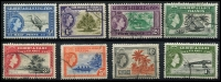 Lot 4108:1956-62 QEII Pictorials SG #64-71 ½d to 1/-, Cat £11. (8)
