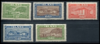 Lot 3972:1925 Pictorials SG #151-5 complete set, Cat £300. Ex UPU distribution. (5)