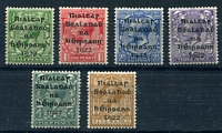 Lot 23604 [2 of 2]:1922 Dollard Overprints SG #1-9 ½d to 10d, excl 9d, Cat £33. Ex UPU distribution. (7)