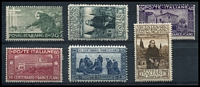 Lot 4041 [4 of 5]:1914-27 Group SG #172 incl 1926 National Defence set, 1927 Volta's Death, 1927 Emmanul II set, 1926 St Francis, 1924 Holy Year, 1926 Royal Jubilee, and some Express and Parcel Post pairs. Ex UPU distribution. (44)