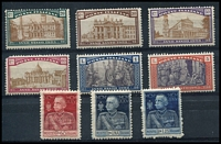 Lot 4041 [5 of 5]:1914-27 Group SG #172 incl 1926 National Defence set, 1927 Volta's Death, 1927 Emmanul II set, 1926 St Francis, 1924 Holy Year, 1926 Royal Jubilee, and some Express and Parcel Post pairs. Ex UPU distribution. (44)
