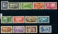 Lot 4079 [1 of 2]:1925 Pictorials SG #58-70 complete set, Cat £50. Ex UPU distribution. (13)
