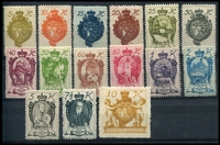 Lot 24400 [3 of 6]:1918-28 Group 1918 20h green, 1918 Anniversary to 1920 80th Birthday complete, 1920 Pdues & 1928 Pdues. Ex UPU distribution. (54)