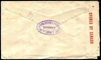 Lot 1122 [2 of 2]:Sydney: - 'SUPT MAILS/4-P2?AP43/SYDNEY.' on 2½d red KGVI on cover to England, censor tape at left tied by 'PASSED BY CENSOR/S. 81' h.s.  PO 25/4/1809.