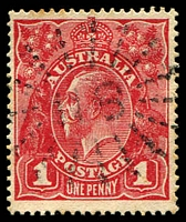 Lot 1002:118: rays (3a) on 1d red KGV. [Rated 2R]  Allocated to Frazer's Creek-PO 1/1/1853; closed 1/12/1863.