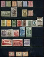 Lot 4139 [2 of 2]:1910-27 Group SG #53a incl 1923 Red Cross set, 1924 Garibaldi's Refuge, 1919 3l rose PDue and 1927 15l, 25l & 50l Pdues. Ex UPU distribution. (30)