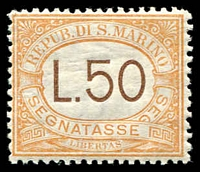 Lot 4139 [1 of 2]:1910-27 Group SG #53a incl 1923 Red Cross set, 1924 Garibaldi's Refuge, 1919 3l rose PDue and 1927 15l, 25l & 50l Pdues. Ex UPU distribution. (30)
