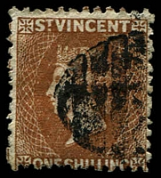 Lot 27155:1869 New Colours No Wmk Perf 11½-12 SG #14 1/- brown, Cat £160.