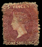 Lot 27757:1872 Wmk Small Star Sideways Perf 11-12½ SG #17 1/- deep rose-red, Cat £140