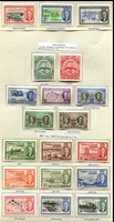 Lot 4250:1948-50 KGVI Issues SG #210-6, 221-32 Centenary of Separation set & 1950 Defins to 5/-, Cat £66. (19)