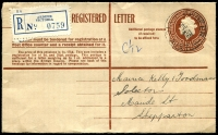 Lot 2213 [1 of 2]:Ardeer: - WWW #10A 'ARDEER/29NO56/VIC-AUST' on 1/0½d Registration Envelope with blue label.  PO 1/12/1953; closed 16/2/1979.