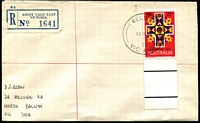 Lot 2255 [1 of 2]:Ascot Vale East: - ''RELIEF/11SE68/69/VIC-AUST' on 25c Xmas on cover with blue registration label.