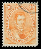 Lot 3305 [3 of 3]:1873 Potraits Perf 12 SG #33-5 30c orange, 60c black & 90c blue, Cat £26. (3)