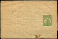 Lot 4403:1913-15 ½d Green Kangaroo BW #W1 unused, small stain at base, Cat $75.