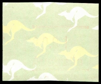 Lot 3491:1985-86 Kangaroo Frama 1c no postcode with red ink almost completely missing.
