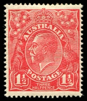Lot 541:1½d Red Die I - BW #90(18)ua [18R60] White flaws in right value shield and right wattles, bad thin, Cat $100.