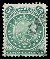 Lot 20327 [2 of 2]:1870 11 Stars Perf 12 SG #37-8 5c green & 10c red, Cat £20.