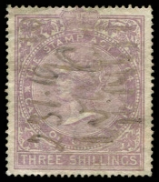 Lot 20882 [1 of 2]:1865 Revenue wmk Crown/CC: 6d lilac & 3/- lilac, both P15½x15.