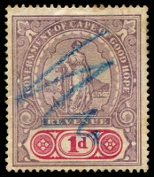 Lot 20883 [2 of 2]:1898 Revenue Standing Hope: 1d & 3/-