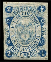 Lot 3630:1869-71 SG #5 2½c blue 4-margins