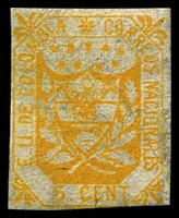 Lot 3627 [2 of 2]:1863 United States of Colombia different forgeries of 5c yellow & 20c red.