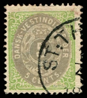 Lot 19097:1873-1902 Bi-Colours Perf 14x13½ SG #19, 5c drab & yellow-green, Cat £36.