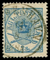 Lot 3512:1864-70 Large Oval Perf 13x12½ SG #22 2s blue, Cat £50.