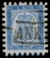 Lot 22156:1860 Serpentine Roulette (II) SG #15 5k blue/bluish with all teeth, Cat £450.