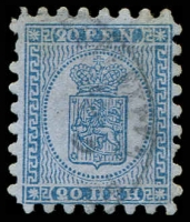 Lot 22159:1866 Wove Paper Serpentine Roulette SG #34 20p blue/blue (i) one shortish tooth, Cat £180.