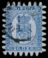 Lot 3562:1866 Wove Paper Serpentine Roulette SG #38 20p deep blue/blue (iii) with all teeth, Cat £200.