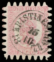 Lot 22161:1866 Wove Paper Serpentine Roulette SG #43 40p rose/pale rose (iii) with all teeth, Kristinestad cancel, Cat £350.