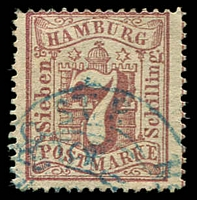 Lot 3597:1865 Arms New Colour Perf 13½ Mi #19,7s dull mauve, Cat €20