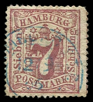 Lot 3598:1865 Arms New Colour Perf 13½ Mi #19,7s dull mauve, Cat €20