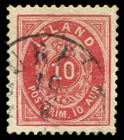 Lot 3767:1876-95 New Currency Perf 14x13½ SG #16c 10a carmine-red