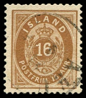 Lot 3768:1876-95 New Currency Perf 14x13½ SG #17b 16a deeper brown, Cat £50.