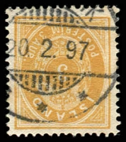 Lot 21432:1882-95 New Colours Perf 14x13½ SG #20 3a brownish ochre, Cat £170.